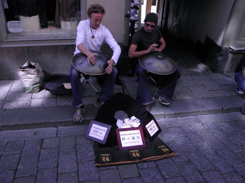 Unique street musicians