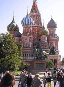 The famous St. Basil's Cathedral.