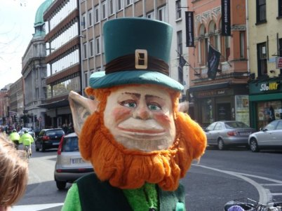 We ran into this guy while on the mean streets of Dublin. I'd imagine this being super creepy at night.