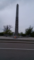 Monument outside Victory Park.