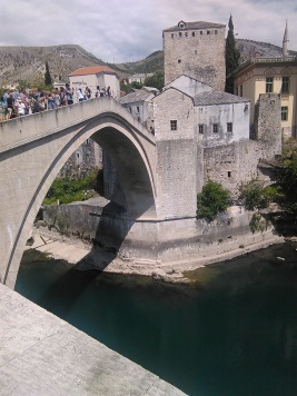 The famous Mostar Bridge.