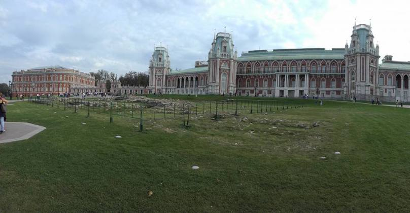 The former summer home of the Russian tsars, Tsaritsyno Park is a place Muscovites go to relax. 2015.