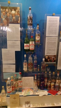 At the top left: Boris Yeltsin's own brand. In the bottom right: canned vodka.